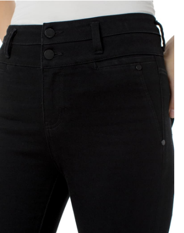 Liverpool - High Waist Fray Hem Ankle Skinny Jeans