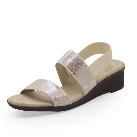 Charleston Shoe Co. HAMPTON Sandal in Pearla Shimmer