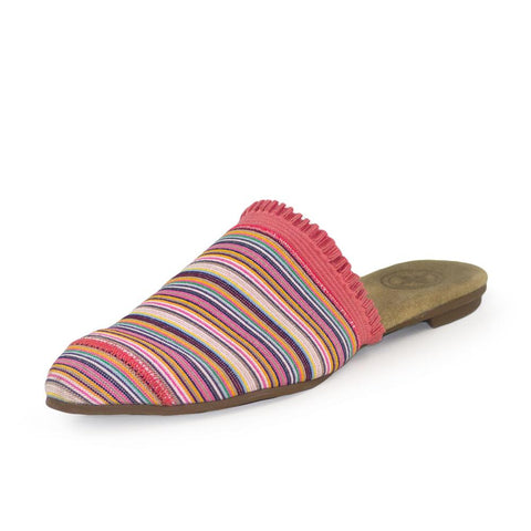 Charleston Shoe Co. BLAKELY Mule Shoe in Coral Multi-Stripe