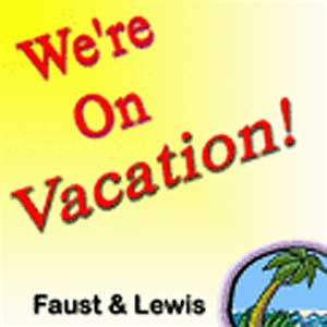 'We're On Vacation!' CD - Faust & Lewis