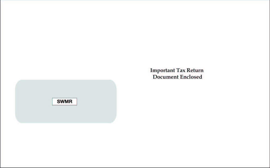 Single Window 1099 Envelope (SWMR)