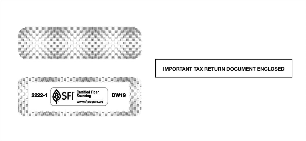 Double Window 1099 Envelope (DW19)