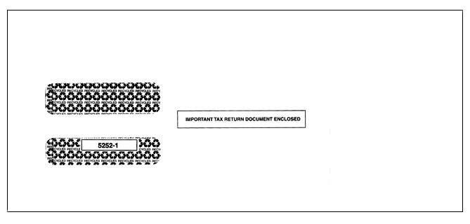 Double Window Envelope for 3-Up 1099-Misc (LM3/5114)