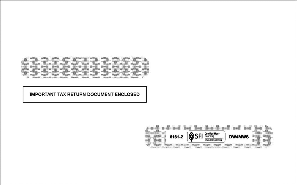 Double Window Envelope for L4UPW - Self-Seal (DW4MWSS)