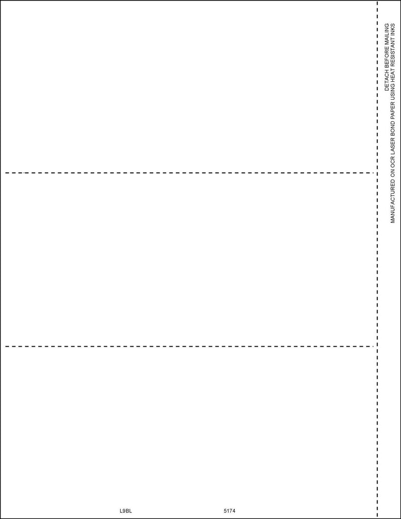 Laser 1099 Blank Form No Backer (pkg of 50 for 150 recipients)