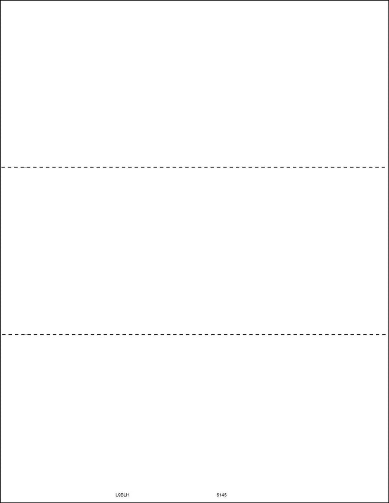 Laser 1099 Blank Form No Vertical Perf (pkg of 50 for 150 recipients)