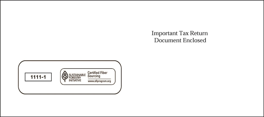 Single Window 1099 Envelope (SW19)