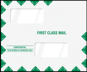 "Double Window Tax Return Envelope 11-1/2"" x 9-1/2"" (landscape) - Peel-and-Close"