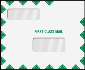 "Double Window Tax Return Envelope 11-1/2"" x 9-1/2"" (landscape)"