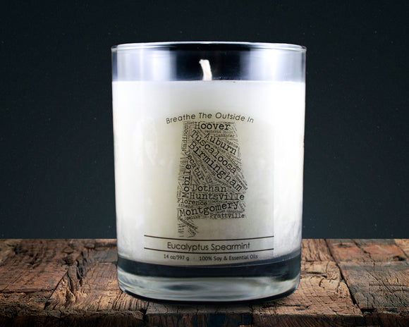 Alabama | 100% soy wax & essential oil candle | Classic Tumbler | 14oz. - Grassroots Natural Candle Company 100% soy and essential oil candle all natural