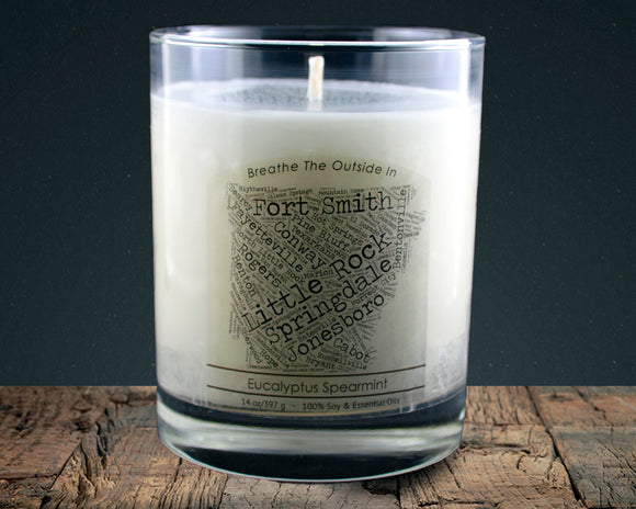 Arkansas | 100% soy wax & essential oil candle | Classic Tumbler | 14oz. - Grassroots Natural Candle Company 100% soy and essential oil candle all natural