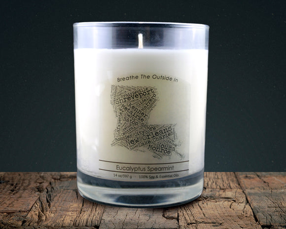 Louisiana | 100% soy wax & essential oil candle | Classic Tumbler | 14oz. - Grassroots Natural Candle Company 100% soy and essential oil candle all natural