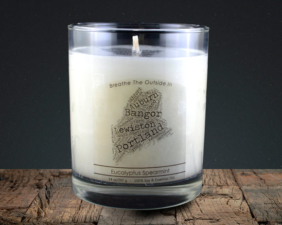 Maine | 100% soy wax & essential oil candle | Classic Tumbler | 14oz. - Grassroots Natural Candle Company 100% soy and essential oil candle all natural