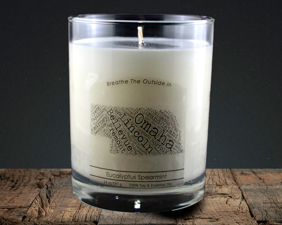 Nebraska | 100% soy wax & essential oil candle | Classic Tumbler | 14oz. - Grassroots Natural Candle Company 100% soy and essential oil candle all natural