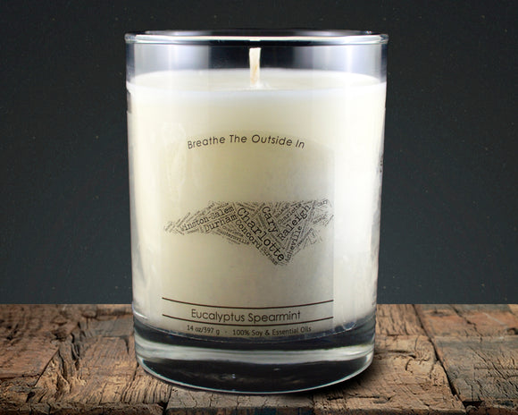 North Carolina | 100% soy wax & essential oil candle | Classic Tumbler | 14oz. - Grassroots Natural Candle Company 100% soy and essential oil candle all natural