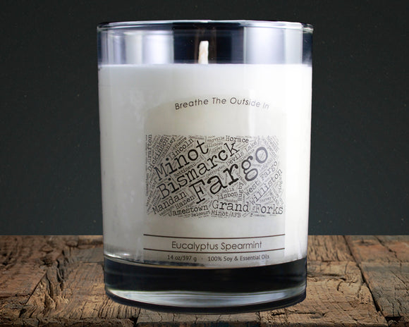 North Dakota | 100% soy wax & essential oil candle | Classic Tumbler | 14oz. - Grassroots Natural Candle Company 100% soy and essential oil candle all natural