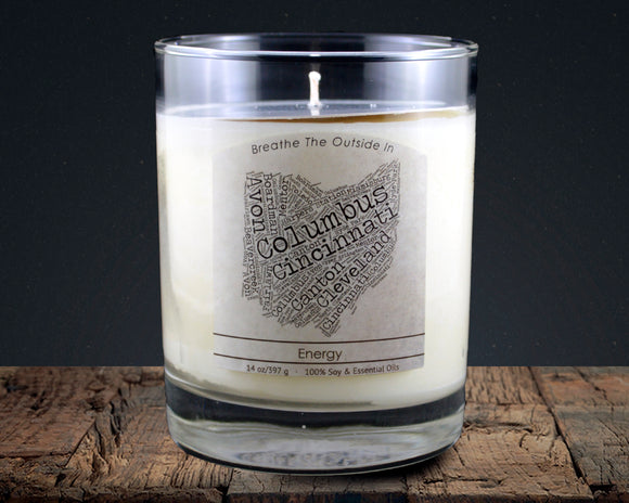 Ohio | 100% soy wax & essential oil candle | Classic Tumbler | 14oz. - Grassroots Natural Candle Company 100% soy and essential oil candle all natural
