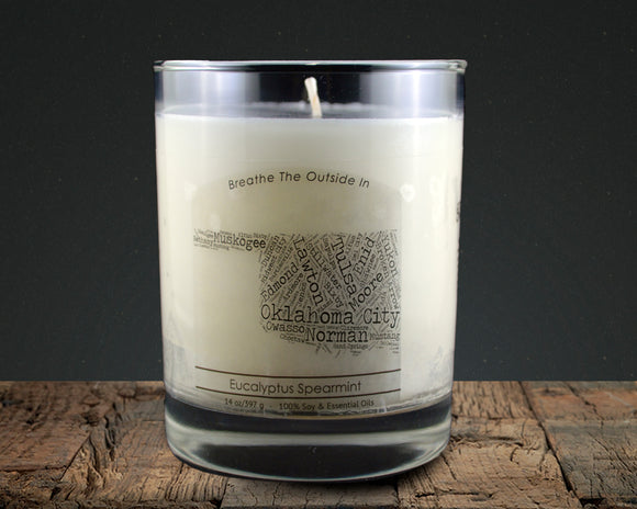 Oklahoma | 100% soy wax & essential oil candle | Classic Tumbler | 14oz. - Grassroots Natural Candle Company 100% soy and essential oil candle all natural