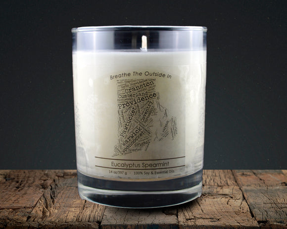 Rhode Island | 100% soy wax & essential oil candle | Classic Tumbler | 14oz. - Grassroots Natural Candle Company 100% soy and essential oil candle all natural