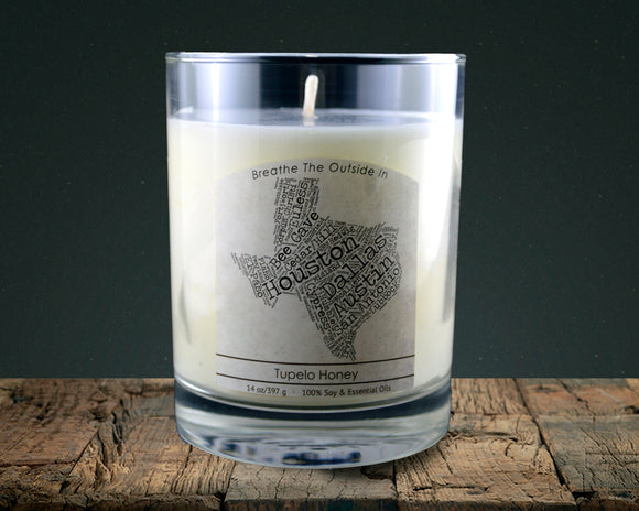Texas | 100% soy wax & essential oil candle | Classic Tumbler | 14oz. - Grassroots Natural Candle Company 100% soy and essential oil candle all natural