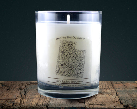Utah | 100% soy wax & essential oil candle | Classic Tumbler | 14oz. - Grassroots Natural Candle Company 100% soy and essential oil candle all natural