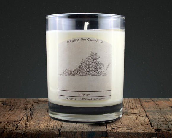 Virginia | 100% soy wax & essential oil candle | Classic Tumbler | 14oz. - Grassroots Natural Candle Company 100% soy and essential oil candle all natural