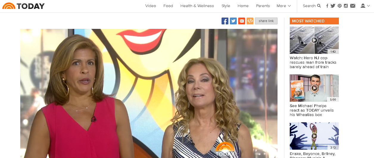 No-slip Strip featured on NBC Today Show with Katie Lee and Hoda