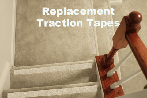 Replacement Traction Tapes: No-slip Strips, Carpeted Stairs - No-slip Strip
