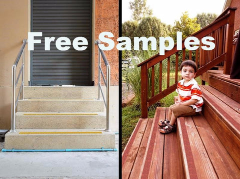 Free Samples: No-slip Tapes, Outdoor Stairs - No-slip Strip