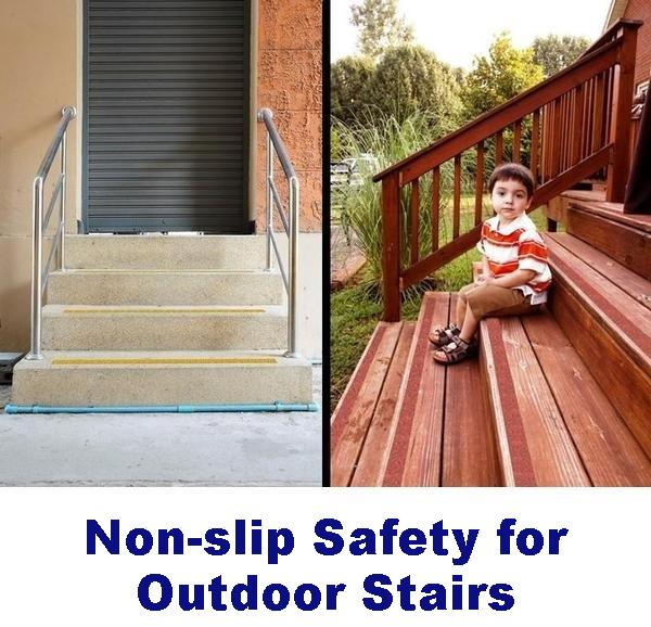 No Slip Tapes Outdoor Stairs