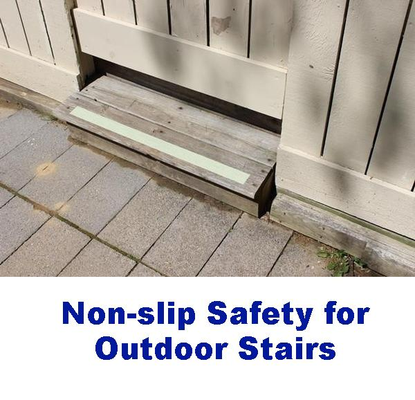 Fix Slippery Outdoor Stairs Wood Tile Concrete No