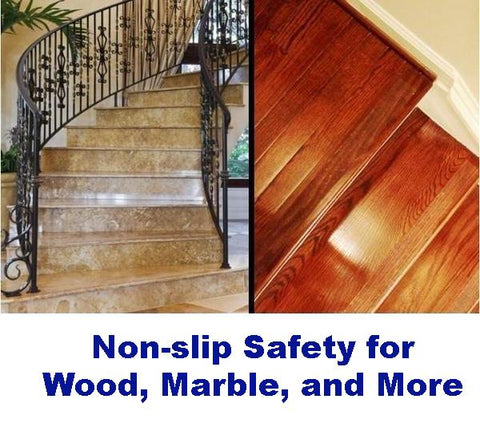 No Slip Tapes: Wood, Laminate, Marble, Etc.