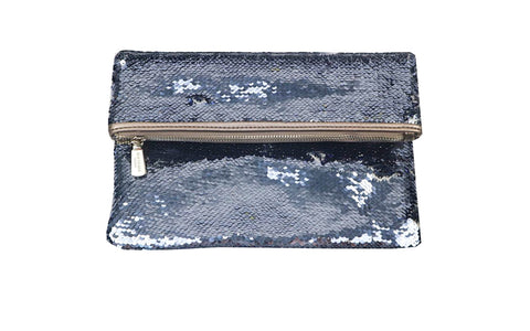 Sequinned Clutch Bag
