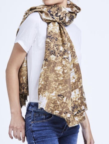 Mottled Paint Print Scarf