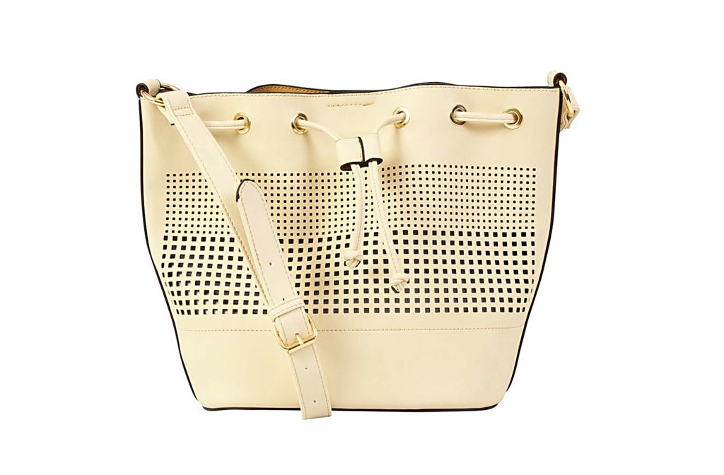 Lattice Cut Draw-string Handbag
