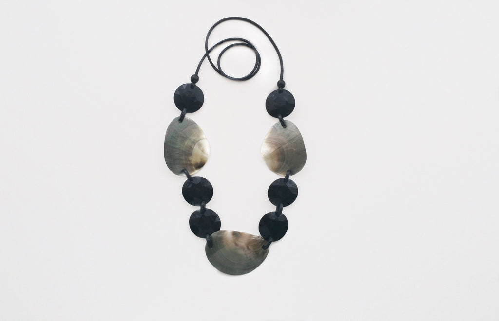 Black and Grey Shell Necklace
