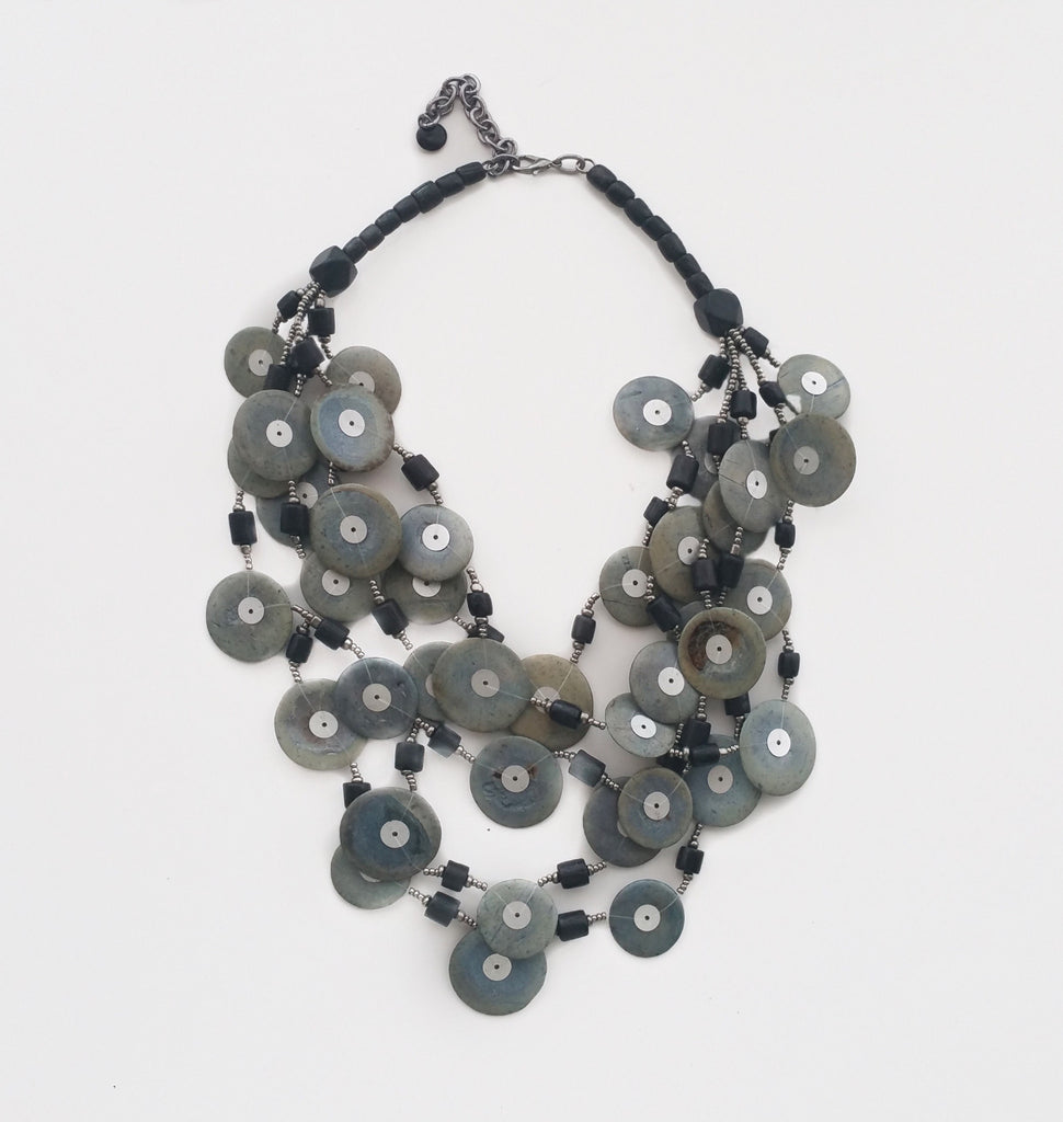Multi Large Disc Necklace