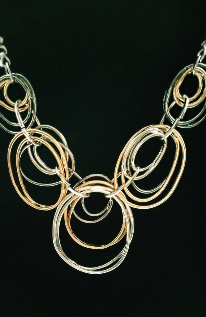 Five Circles Chain Necklace