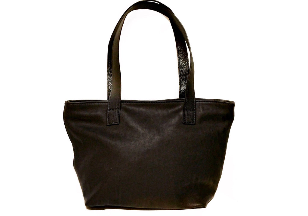 Black Leather Small Shopper