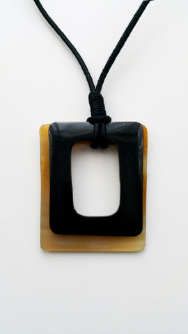 Double Square Horn Necklace
