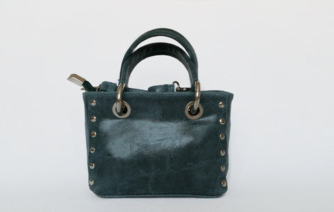 Italian Leather Mini Micro Handbag