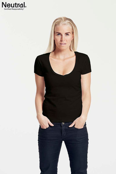 Ladies Deep V Neck T-Shirt