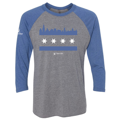 Run Chicago Baseball Tee