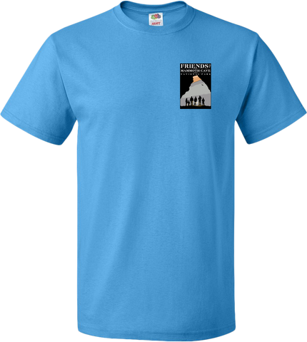 Friends of Mammoth Cave Left Chest Logo Tee - Pacific Blue