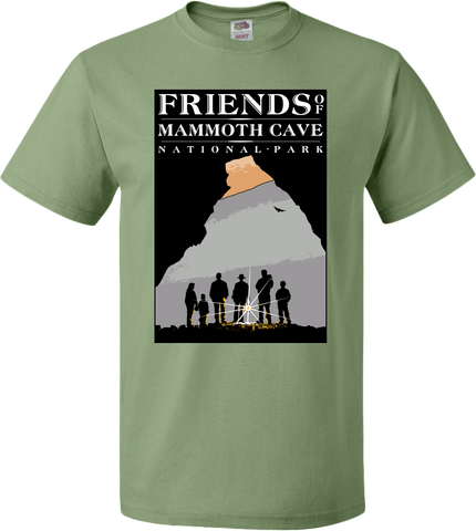 Mammoth Logo - Friends of Mammoth Cave - Sagestone - Short Sleeve T-shirt