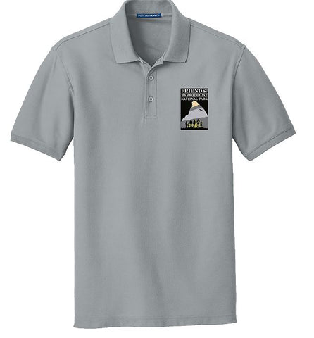 Friends of Mammoth Cave Gusty Grey Embroidered Polo - 159696