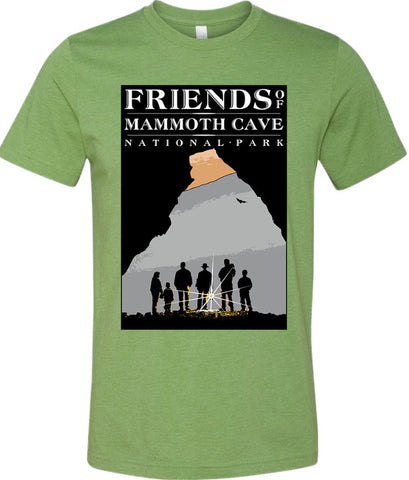 Friends of Mammoth Cave Left Chest Logo Tee - 3001CVC Heather Green