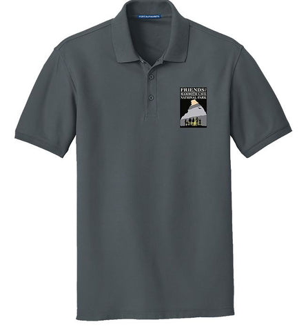 Friends of Mammoth Cave Graphite Embroidered Polo - 159696
