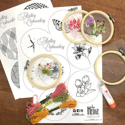 floating embroidery/needlepoint kit
