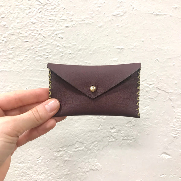 faux leather mini clutch